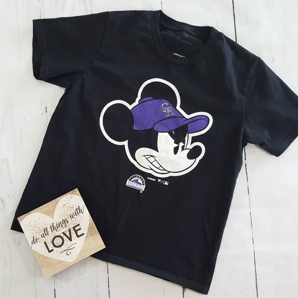 newest 04b92 7533b Disney MLB Mickey Mouse Colorado Rockies T Shirt